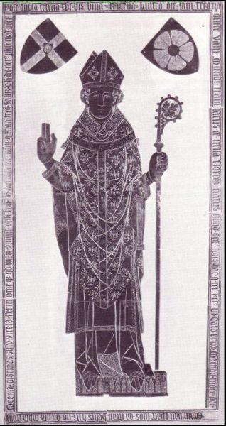 Grabplatte Bischof Bernhard V.